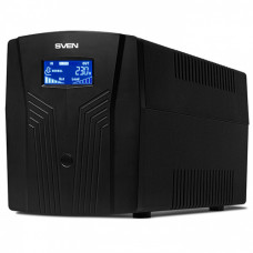 ИБП SVEN Pro 1500 1500VA/900Вт LCD, USB, RG-45, 3 euro sockets [1]