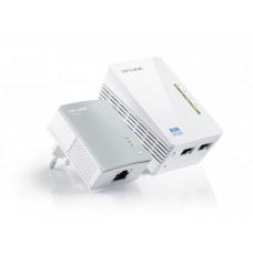 Комплект адаптеров Powerline TP-LINK TL-WPA4220KIT с функцией усилителя беспроводного сигнала [1у]