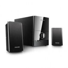 Колонки 2.1 MICROLAB M-500U / 2×12+16W / USB+SD / дерево+пластик / black [1]