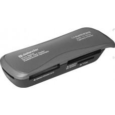 Картридер внешний Defender Ultra Rapido, (83261) USB 2.0 4 слота Работает с картами большого объема [тема2]