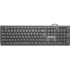 Клавиатура Defender OfficeMate SM-820, Ru (чёрный), (45820) USB, Мягкое и бесшумное нажатие клавиш [тема2]