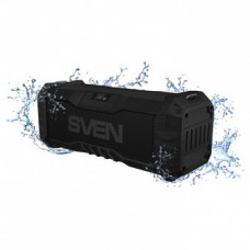 Аудио система SVEN PS-430, IPx5 15W microSD+USB+BT+FM LED дисплей 2000 mAh черная [тема2]